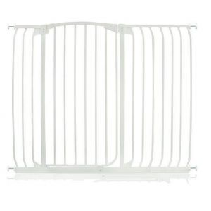 Extra Tall Arch Top Pressure Fit Pet Gate White 124cm - 133cm