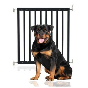 Bettacare Chunky Wooden Screw Fit Puppy Gate Black 63.5cm - 105.5cm