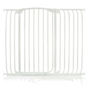 Extra Tall Arch Top Pressure Fit Pet Gate White 115cm - 124cm