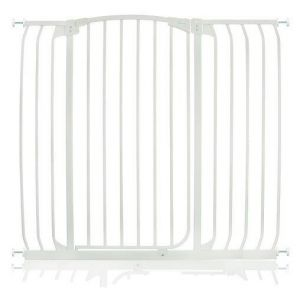 Extra Tall Arch Top Pressure Fit Pet Gate White 106cm - 115cm