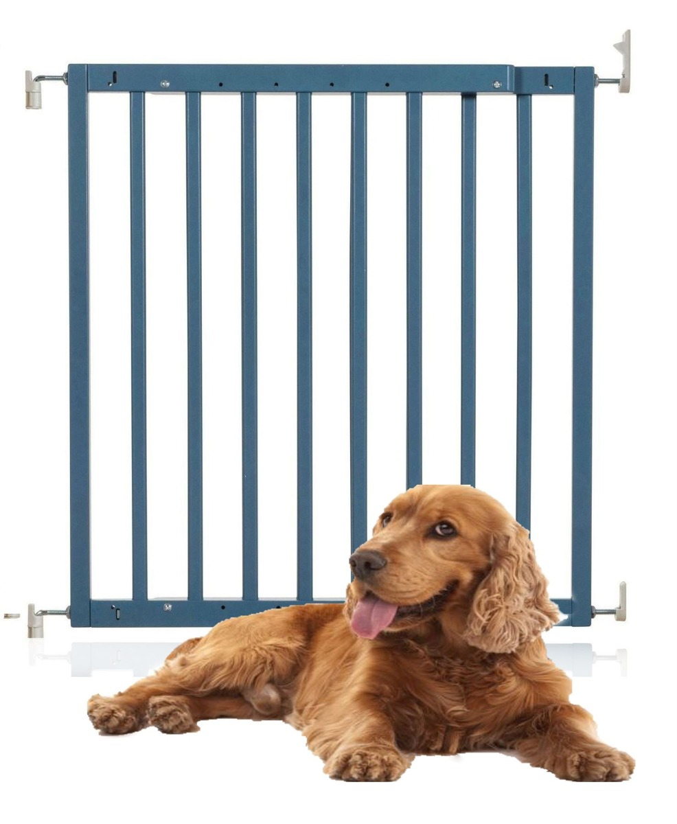 Bettacare Chunky Wooden Screw Fit Pet Gate Azure Blue 63.5-105.5cm