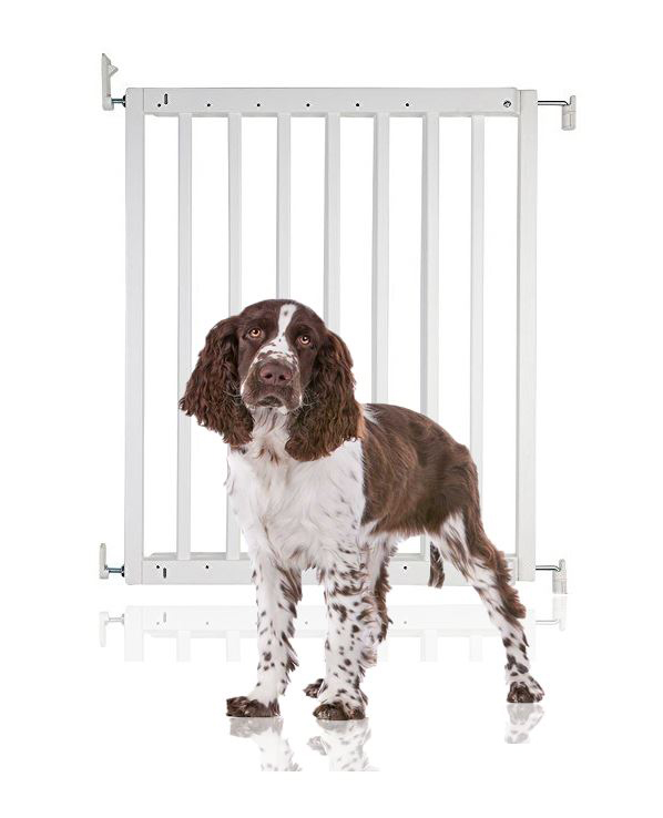Bettacare Chunky Wooden Screw Fit Pet Gate White 63.5cm-105.5cm