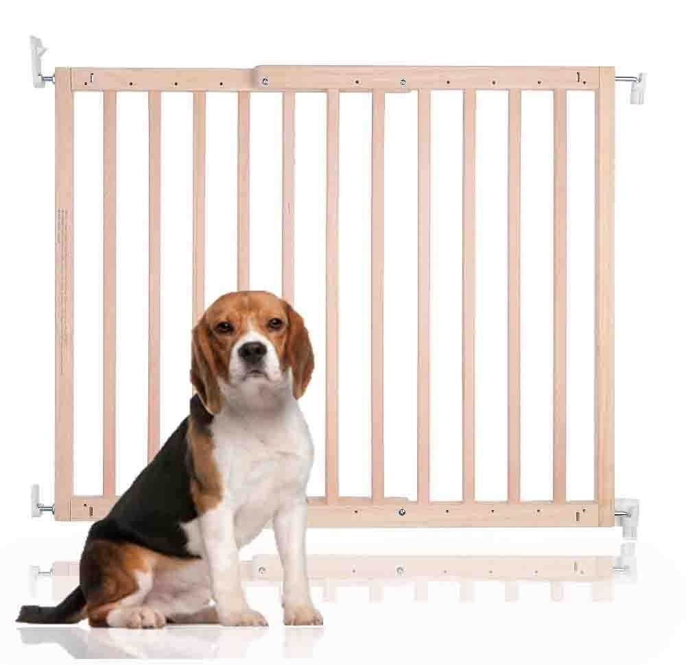 Bettacare Chunky Wooden Screw Fit Pet Gate Natural 63.5-105.5cm
