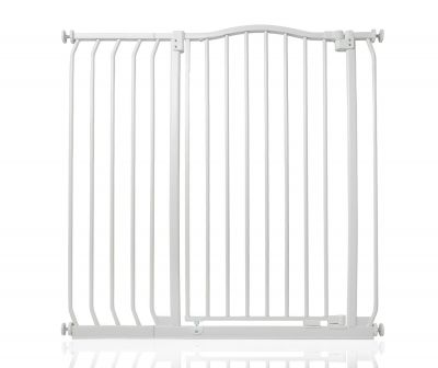 Bettacare Extra Tall Matt White Curved Top Pet Gate 98cm - 107cm