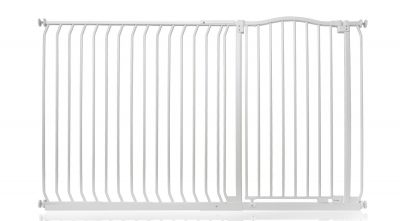 Bettacare Extra Tall Matt White Curved Top Pet Gate 171cm - 180cm