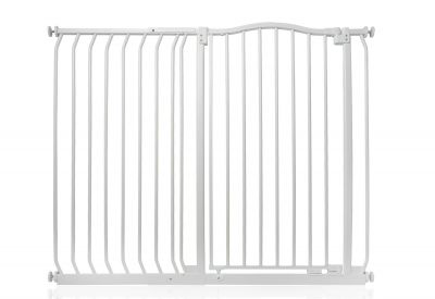 Bettacare Extra Tall Matt White Curved Top Pet Gate 116cm - 125cm