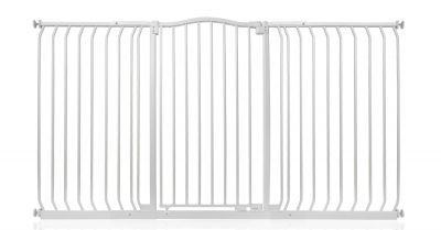 Bettacare Extra Tall Matt White Curved Top Pet Gate 170cm - 179cm