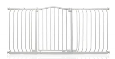 Bettacare Matt White Curved Top Pet Gate 152cm - 161cm
