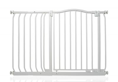 Bettacare Matt White Curved Top Pet Gate 107cm - 116cm