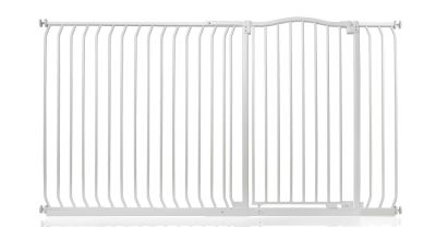 Bettacare Extra Tall Matt White Curved Top Pet Gate 180cm - 189cm