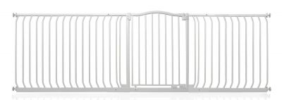 Bettacare Matt White Curved Top Pet Gate 234cm - 243cm