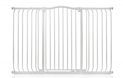 Bettacare Extra Tall Matt White Curved Top Pet Gate 143cm - 152cm