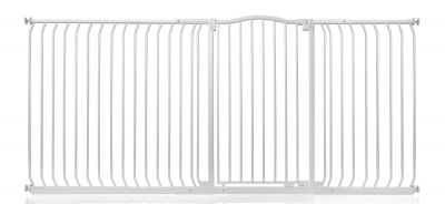 Bettacare Extra Tall Matt White Curved Top Pet Gate 216cm - 225cm
