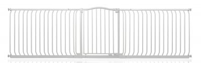 Bettacare Matt White Curved Top Pet Gate 271cm - 280cm