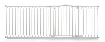 Bettacare Matt White Curved Top Pet Gate 207cm - 216cm