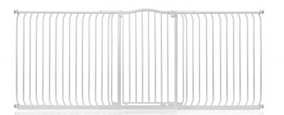 Bettacare Extra Tall Matt White Curved Top Pet Gate 234cm - 243cm