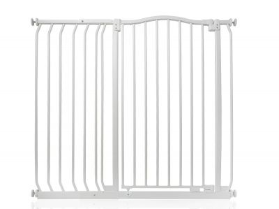 Bettacare Extra Tall Matt White Curved Top Pet Gate 107cm - 116cm