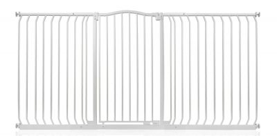Bettacare Extra Tall Matt White Curved Top Pet Gate 188cm - 197cm