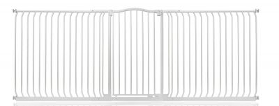 Bettacare Extra Tall Matt White Curved Top Pet Gate 271cm - 280cm