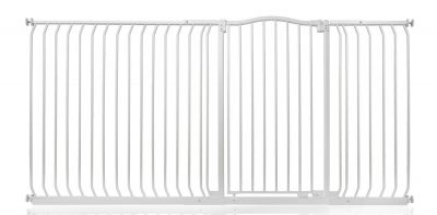 Bettacare Extra Tall Matt White Curved Top Pet Gate 207cm - 216cm