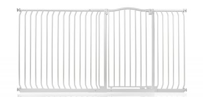 Bettacare Extra Tall Matt White Curved Top Pet Gate 198cm - 207cm
