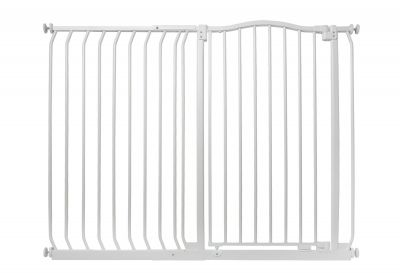 Bettacare Extra Tall Matt White Curved Top Pet Gate 125cm - 134cm