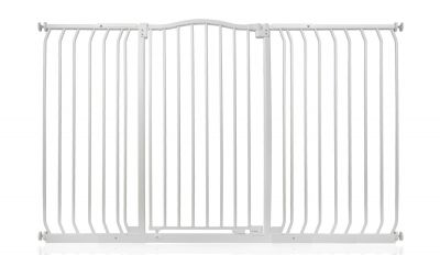 Bettacare Extra Tall Matt White Curved Top Pet Gate 152cm - 161cm