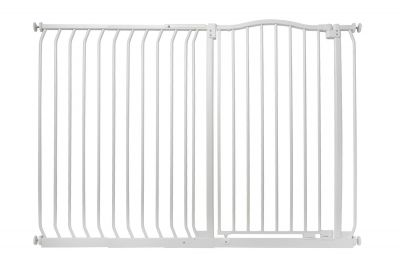 Bettacare Extra Tall Matt White Curved Top Pet Gate 134cm - 143cm