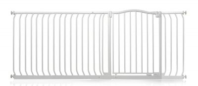Bettacare Matt White Curved Top Pet Gate 189cm - 198cm