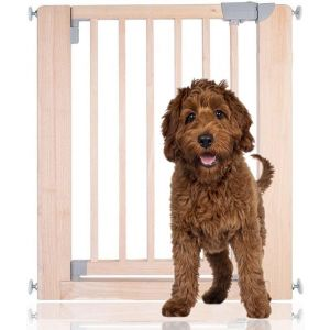 Bettacare Chunky Wooden Pressure Fit Pet Gate Natural 74cm - 81cm