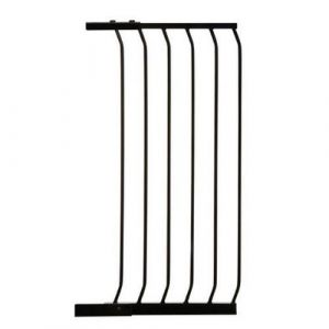 Extra Tall Arch Top Pressure Fit Pet Gate Black Extension 45cm
