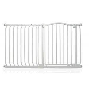 Bettacare Matt White Curved Top Pet Gate 125cm - 134cm