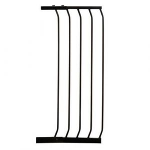 Extra Tall Arch Top Pressure Fit Pet Gate Black Extension 36cm