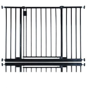 Bettacare Extra Wide Hallway Pet Gate Matt Black 103.2cm - 109.2cm