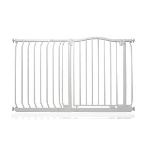 Bettacare Matt White Curved Top Pet Gate 116cm - 125cm
