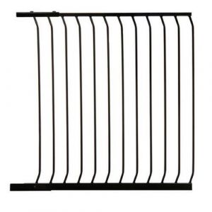 Extra Tall Arch Top Pressure Fit Pet Gate Black Extension 100cm