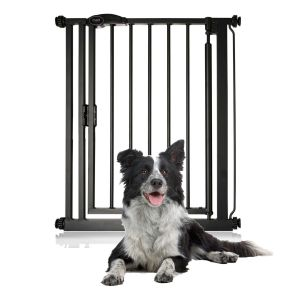Bettacare Auto Close Narrow Pet Gate Matt Black 68.5cm - 75cm