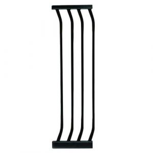 Extra Tall Arch Top Pressure Fit Pet Gate Black Extension 27cm