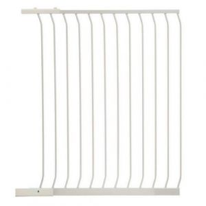 Extra Tall Arch Top Pressure Fit Pet Gate White Extension 100cm