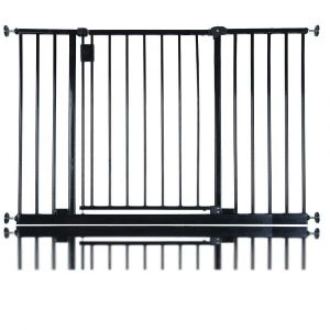 Bettacare Extra Wide Hallway Pet Gate Matt Black 109.4cm - 115.4cm
