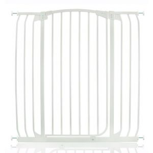 Extra Tall Arch Top Pressure Fit Pet Gate White 97cm - 106cm