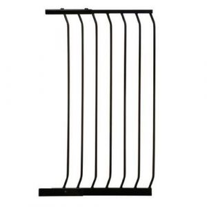 Extra Tall Arch Top Pressure Fit Pet Gate Black Extension 54cm