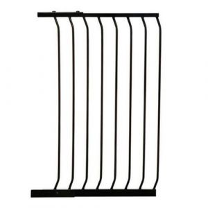Extra Tall Arch Top Pressure Fit Pet Gate Black Extension 63cm