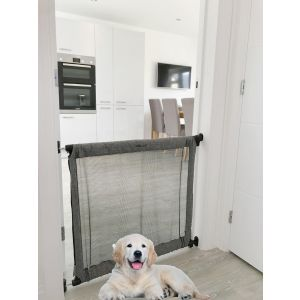 Bettacare Extending Secure Fabric Pet Gate Mesh Gate Denim For Dogs
