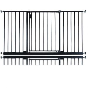 Bettacare Extra Wide Hallway Pet Gate Matt Black 140.4cm - 146.cm