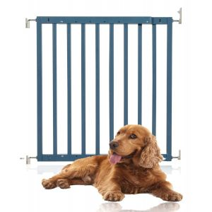 Bettacare Chunky Wooden Screw Fit Puppy Gate Azure Blue 63.5 - 105.5cm