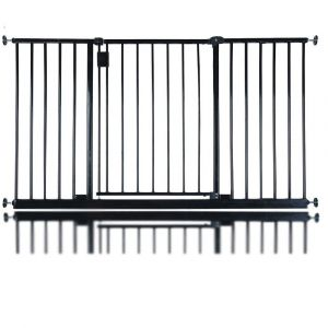 Bettacare Extra Wide Hallway Pet Gate Matt Black 134.2cm - 140.2cm