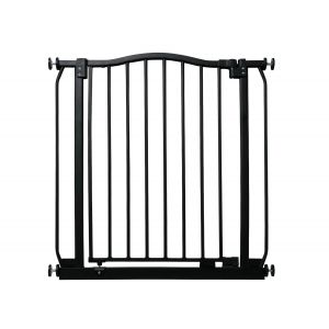 Bettacare Matt Black Curved Top Pet Gate 71cm - 80cm