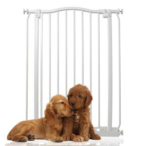Bettacare Extra Tall Matt White Curved Top Pet Gate 71cm - 80cm
