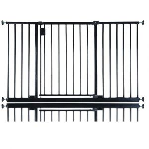 Bettacare Extra Wide Hallway Pet Gate Matt Black 128cm -134cm